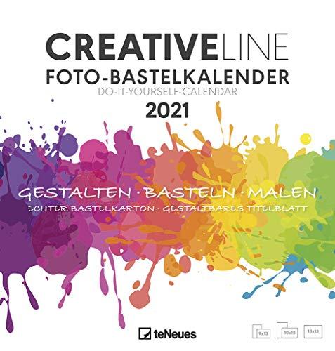 Foto-Bastelkalender weiß 2021 - Kreativ-Kalender - DIY-Kalender - Kalender-zum-basteln - 21x22 - datiert