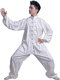 Taiji Boxing Clothing Kung Fu Uniform Chinese Dragon Traditional Wushu Performance Suit Ancient Taoist Costume