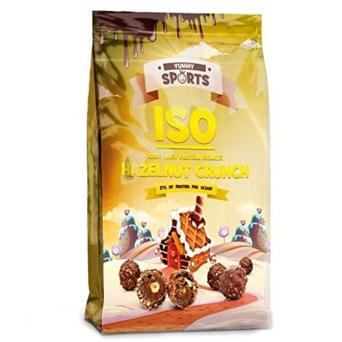 Yummy Sports - Iso - 100 Percent Whey Protein Isolate, 30 Servings, 2 Lbs Hazelnut Crunch