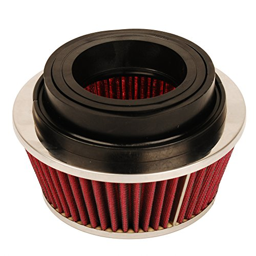 HIFROM 8161 Universal Clamp-On Air Filter Black Small Round Reverse Tapered fit 3 inch, 3 1/2 inch and 4 inch tubes
