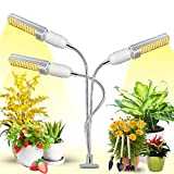 Pflanzenlampe LED, Garpsen Pflanzenlicht mit Auto ON/Off Timer 156 LEDs mit sonnenähnlichem Vollspektrum, 3 Heads Grow Lampe 3/6/12H, 3 Arten von Modus, 5 Helligkeitsstufen
