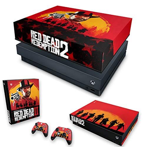 Capa Anti Poeira e Skin para Xbox One X - Red Dead Redemption 2