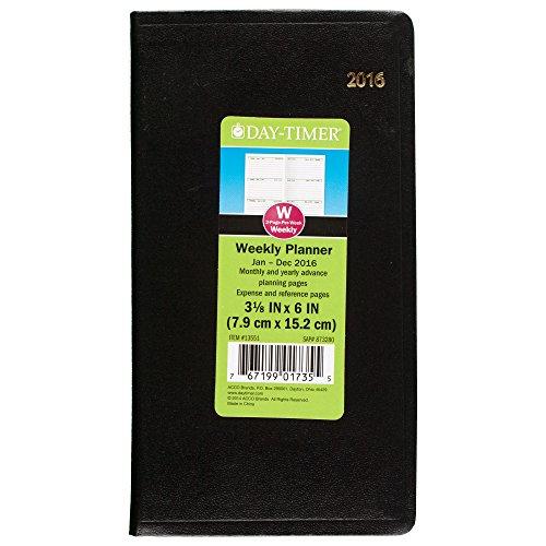 DayTimer 2016 4 x 6 Inches Pocket Weekly Planner (135511601)