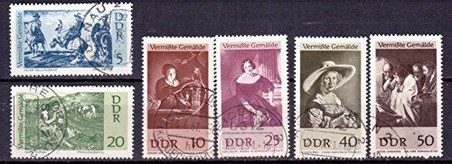 Briefmarken DDR 1967, Mi.Nr. 1286-1291, Vermisste Gemälde, Gestempelt
