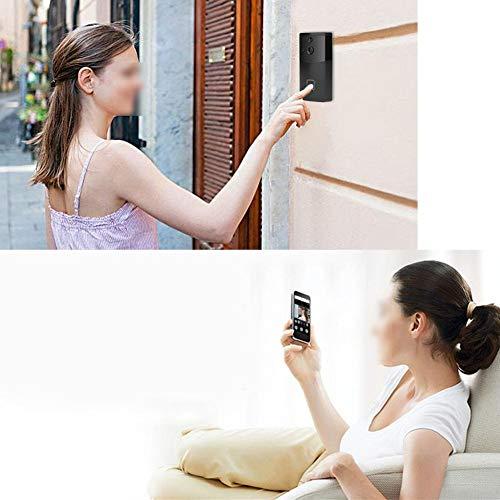 Videodeurbel, draadloze WiFi Nachtzichtcamera Telefoon Ring Intercom Deurbel Kijker Toegangsset voor huisvilla-appartementen