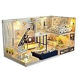 XZJJZ DIY Mini Kit de Muebles de la casa con Muebles y Accesorios-Hogar Decoración- Edificio Modelo Conjuntos-cumpleaños for niños y niñas