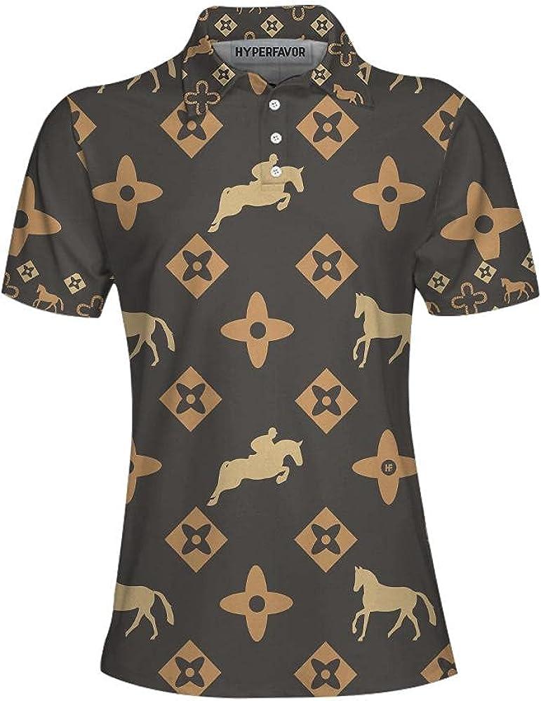 HYPERFAVOR Equestrian Shirts for Women- Quick-Dry Womens Horse Riding Shirts- Short Sleeve Equestrian Polo Shirts for Women