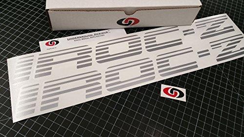 UNDERGROUND DESIGNS IROC-Z Faded Blind Door Decals Third Gen Camaro Stickers Select Color: (Metallic Silver, 2.0