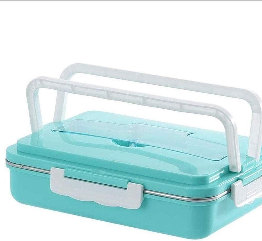 CHENCfanh fiambrera Bento box lunch for adultos de los niños con 4 Compartimiento, almuerzo prueba de fugas Caja envases de alimento seguro for microondas, por sana, seca y alimentos líquidos, Bento d