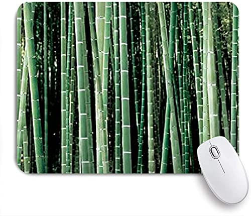HASENCIV Gaming Mouse Pad for Computer Forest Bamboo Non-Slip Base Desktop Laptop Mouse Pad Waterproof Desk Pad for Work Game Office Home