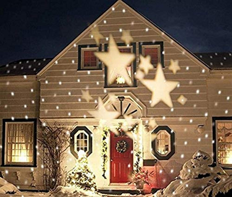 Moontang Weihnachtsstern Projektor Outdoor Indoor Party Hochzeit Ferienhaus Dekor Nachtlicht Scheinwerfer Moving Lighting (Farbe   Wei-)