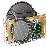 Maison & White Cesta de almacenamiento de cocina | Sobre gabinete y puerta de armario | Bandeja para hornear y soporte para tabla de cortar (Grande)