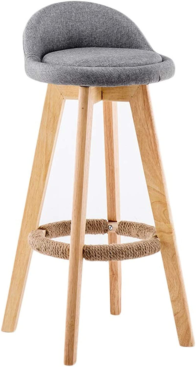 Chair Bar Stool Back Stool Indoor - Outdoor Stool (color   E)