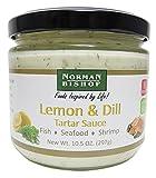 Norman Bishop Lemon and Dill Tartar Sauce, 10.5 oz. Bottle. Great For Fish, Seafood, Shrimp, Dipping