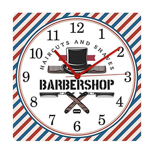 Peluquería Barba Afeitado y Corte de Pelo Salón Diseño Moderno Reloj de...