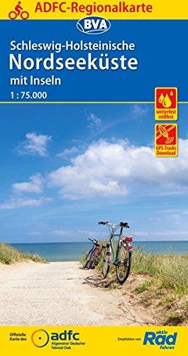 ADFC-Regionalkarte Schleswig-Holsteinische Nordseeküste mit Inseln 1:75.000, reiß- und wetterfest, GPS-Tracks Download (ADFC-Regionalkarte 1:75000)