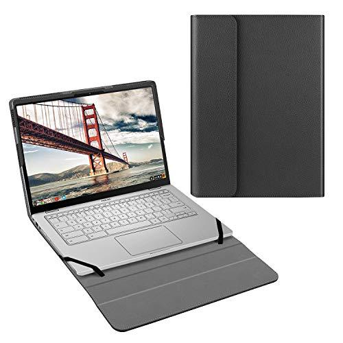 Fintie Schutzhülle für Asus Chromebook Flip C434 C434TA (35,6 cm / 14 Zoll), PU-Leder, nicht passend für Asus Chromebook C403NA / C423NA / C425 Clamshell), Schwarz