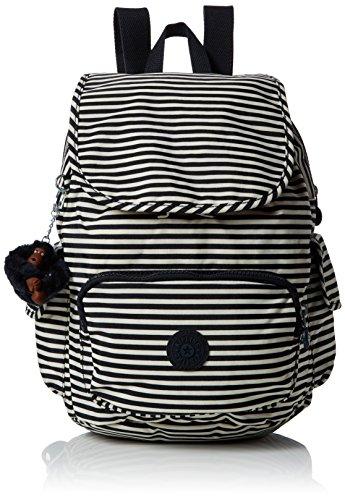 Kipling Damen City Pack S Rucksack, Mehrfarbig (Marine Stripy), 27 x 33.5 x 19 cm