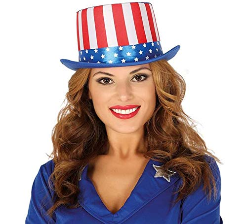 FIESTAS GUIRCA Sombrero de Copa Bandera Americana tio Sam EE