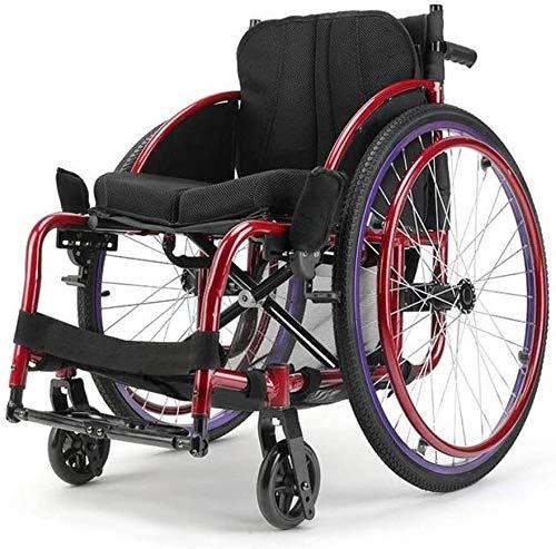 Syxfckc Rollstuhl Gehhilfen leichte, tragbare faltbaren Rollstuhl 13Kg 100Kg Ergonomischer Rollstuhl Transportgut 40mal;40 cm Sitz sportliche Mode