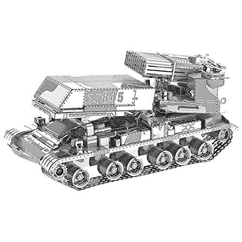 MTU 2018 3D Metall Puzzle 122mm Katjuscha Rocket Launcher Modell Kits I22210 DIY 3D Laserschnitt Modell-Bausatz Spielzeug