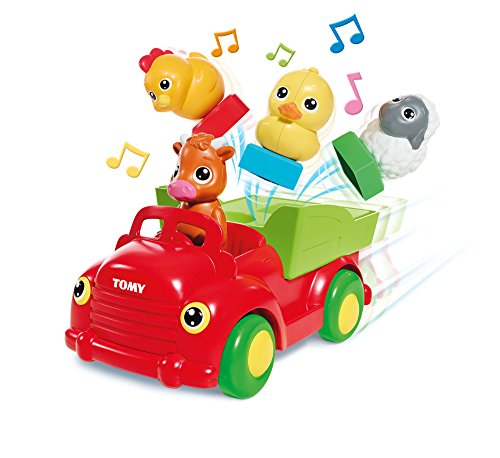 Toomies Tomy Sort and Pop Farmyard Friends Toddler Car Toy, Multicolor
