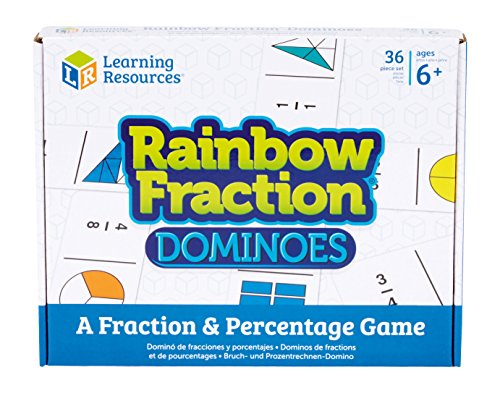 Learning Resources- Domino per Imparare Le frazioni Rainbow Fraction, Colore, LSP2503UK