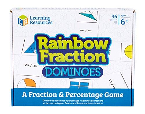 Learning Resources- Dominó fracciones, Multicolor, Talla Única (XLR-LSP2503UK)