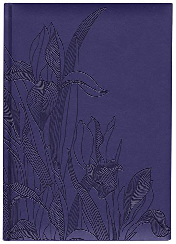 Pierre Belvedere Iris Collection Large Hardcover Notebook with Padded Embossed Cover, Blue Violet (7706310)