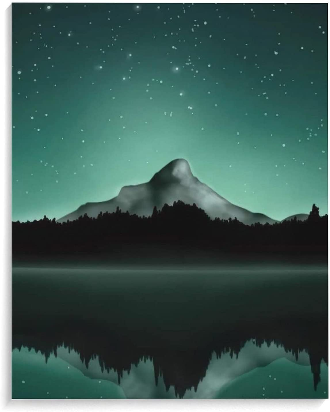 Cotton and linen paintings Fixed price San Diego Mall for sale Green Starry R Sea Sky Range Mountain