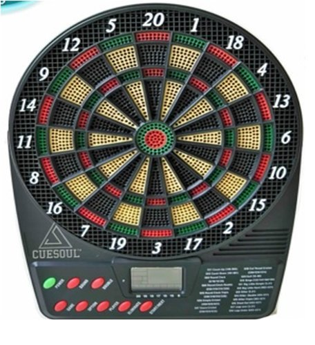 Krauss Electronic Dartboard with LCD Display ; 18 Games (can accommodate Upto 8 Players)
