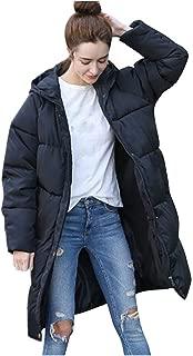 Long Down Jacket,BeautyVan Women Winter Warm Casual Hooded Thick Slim Black Jacket Long Overcoat