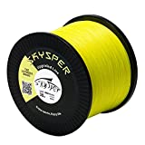 SKYSPER Upgraded Braided Fishing Line 20LB 30LB 60LB 80LB 100LB 547 Yard 1093 Yard PE 4 Strands Super Strong Fishing Line