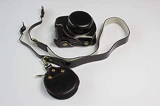 Panasonic Lumix パナソニック PEN LX100M2 LX100 II カメラケース カメラカバー カメラバッグ カメラホルダー、【KOOWL】手作りのレザーカメラフルケース、付属品:ショルダーストラップ+収納ケース、スタイリッシュ、コンパクト、防水、防振 (ブラック)