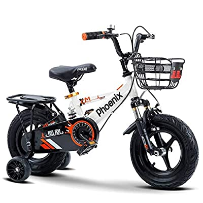 AJZGF Bikes for Kids Children's Bicycle Kids Pedal Bicycles for All Ages White Childrens Bike from AJZGF