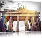 berühmtes Brandenburger Tor in Berlin schwarz/weiß