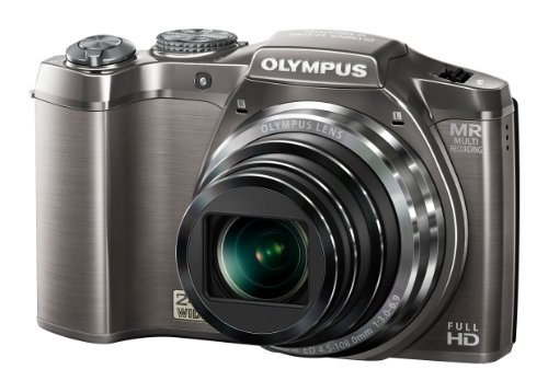 Olympus SZ-31MR Digitalkamera (16 Megapixel, 24-fach opt. Zoom, 7,6 cm (3 Zoll) Display, 3D Fotos, bildstabilisiert) silber