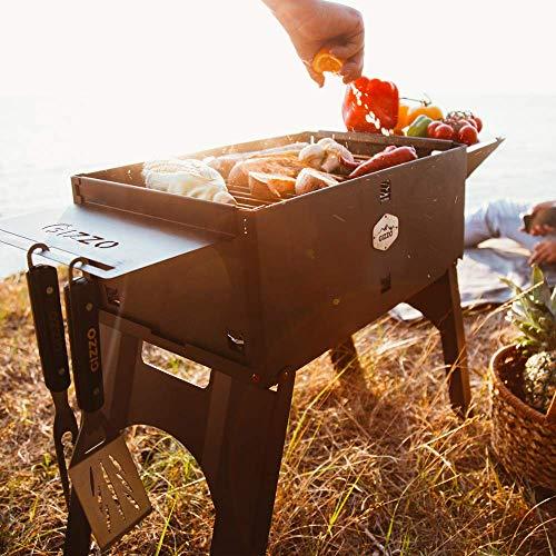 51O9xDbwaKL - Gizzo Grill und Zubehör | Tragbarer und Klappgrill Holzkohle-Grill für Camping, Travel, Vanlife, Transportabler Grill, Garten und Outdoor BBQ Grill-Spaß