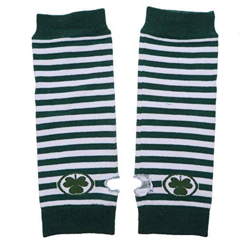 KESYOO 2 pares de calentadores de brazo de guantes largos sin dedos de trbol del da de San Patricio