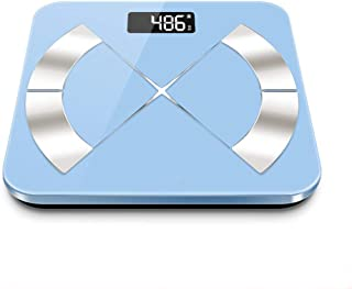 Báscula De Peso Corporal Pantalla LCD Electrónica Pesa Báscula Máquina De Pesaje Básculas Corporales Personales Báscula De Grasa Corporal Bluetooth Inteligente,Azul,Battery Models