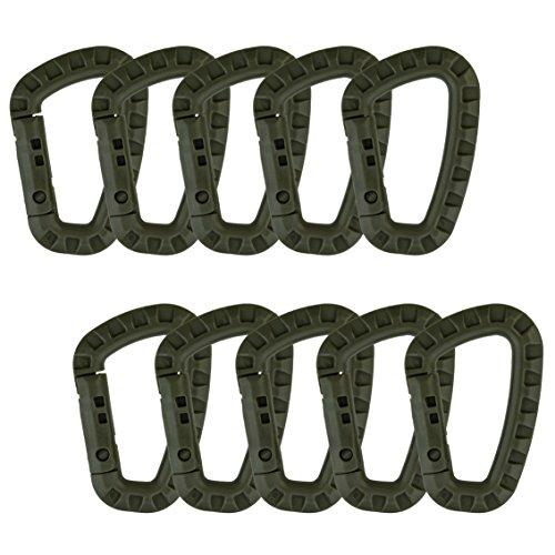 Sumersha 10 pcs 80mm Karabiner Clip Verschluss Haken Schlüsselring Halter Grün