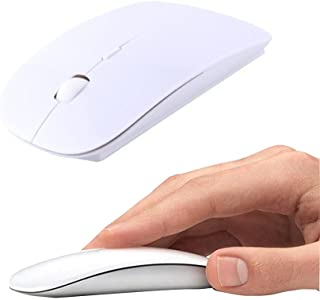 Wireless Mouse, 2.4GHz Mouse Form Fitting Ergonomic Curved Cordless USB Optical Gaming Mouse with Nano Receiver Computer M...