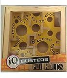 IQ Busters Laberinto Craddle Puzzle de madera tamaño bolsillo rompecabezas (agujeros amarillos)