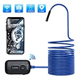 NaCot Wireless Endoscope Wi-Fi Borescope Inspection Camera 2.0MP Waterproof Snake Camera with 6 Adjustable Led...