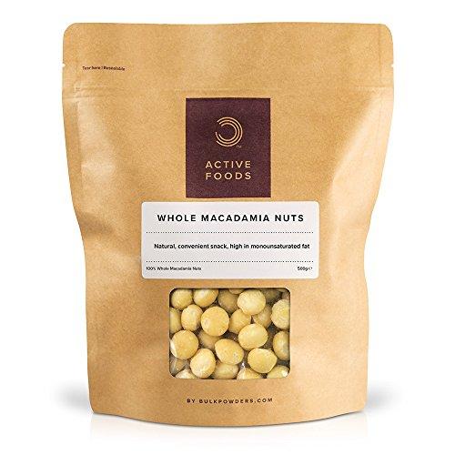 BULK POWDERS Ganze Macadamiakerne, 500 g