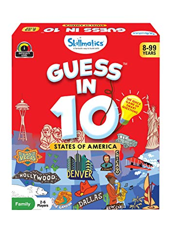 Skillmatics Guess in 10 States of America | Card Game of Smart Questions | Super Fun for Travel, Family Game Night & Summer Camps | Gifts for Ages 8-99