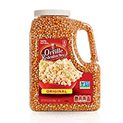 Contains (8) pounds of Orville Redenbacher's original Yellow Gourmet Popcorn Kernels Orville Redenbacher's Original Yellow Gourmet Popping Corn Kernels are premium popping at its finest, giving you delicious popcorn with a crispy outside and a tender...