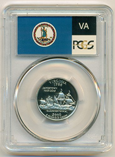 2000 S Virginia State Clad Flag Label Proof Quarter PR70 DCAM PCGS