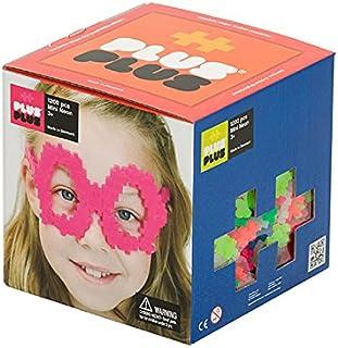 PLUS PLUS - Open Play Set - 1,200 Piece - Neon Color Mix, Construction Building Stem / Steam Toy, Interlocking Mini Puzzle Blocks for Kids