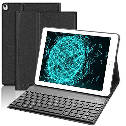 SENGBIRCH Teclado con Funda para iPad 10.2 2019(7ª Generación)/iPad Air 3 2019/iPad Pro 10.5,Español Teclado Bluetooth...